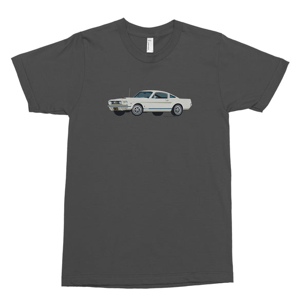 Ford Mustang, Car in White on Asphalt Men's Tee
