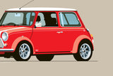 1997 Mini Cooper S Print in Signal Red