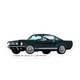 "Mustang Sticker, black, 5.5"" wide"