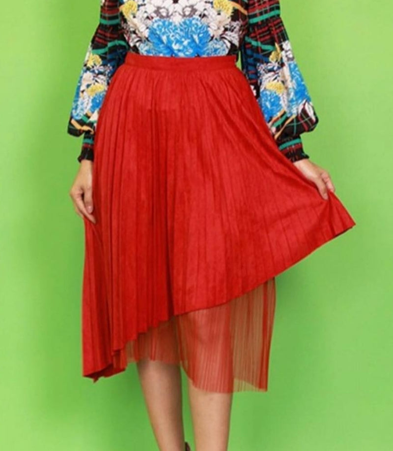 Everything Pleated Skirt
