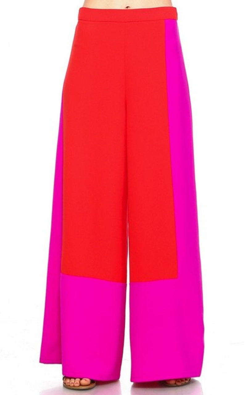 Color Blocking Pants