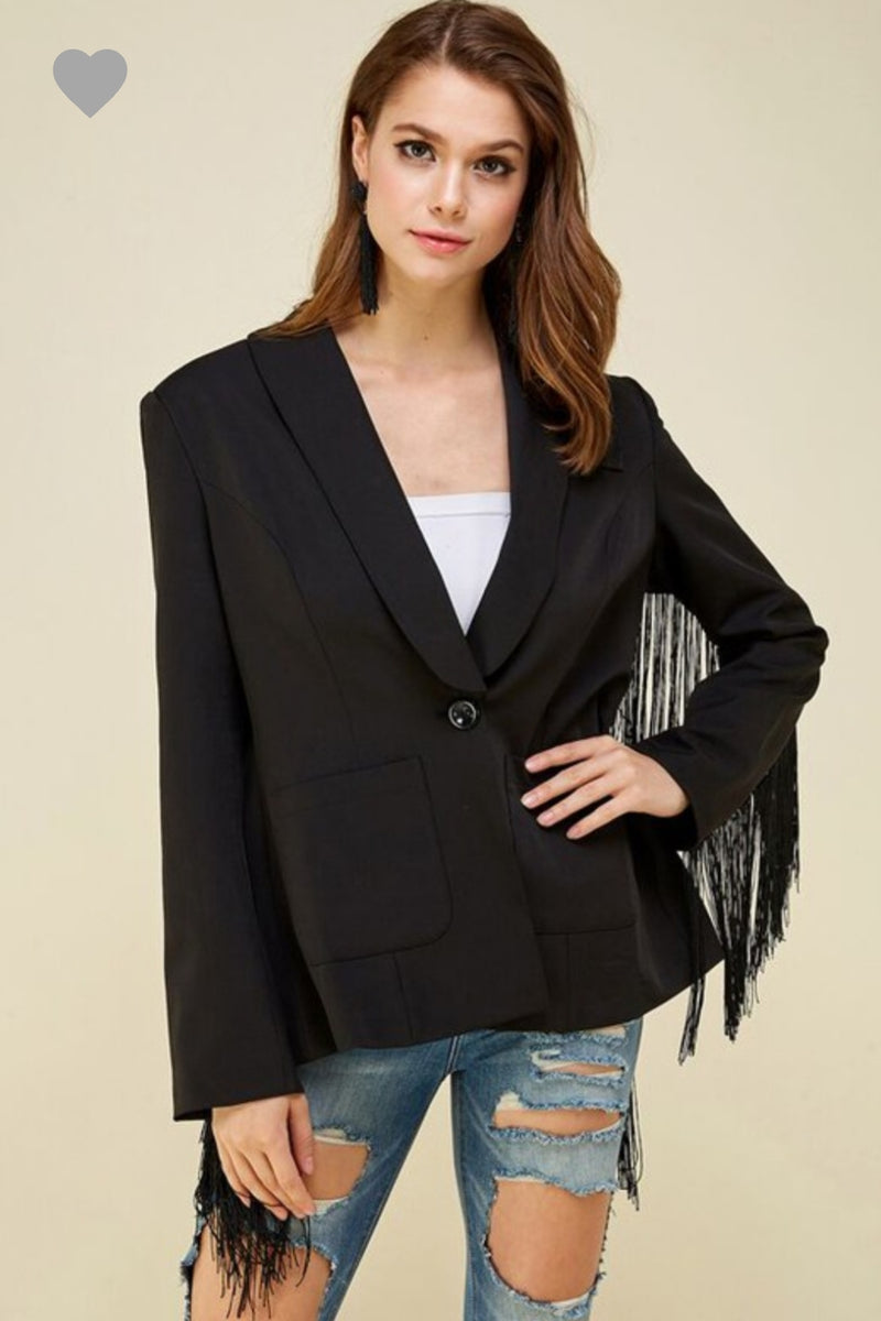 Got Fringes Blazer
