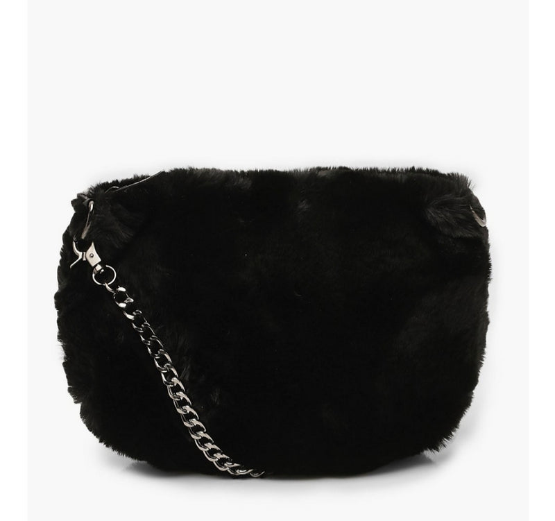 Furry Cross Body Bag