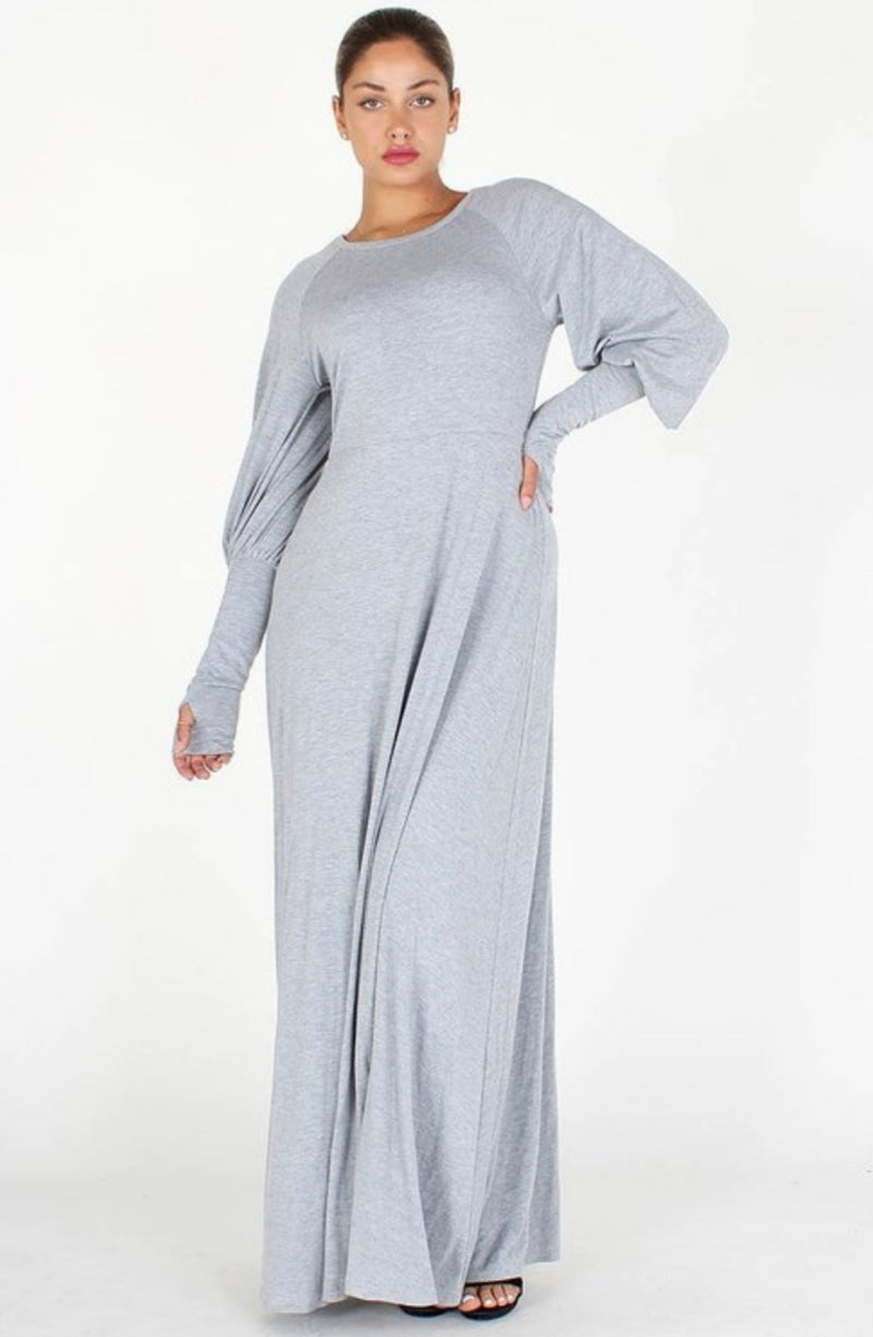 Puff Sleeve with Comfort Maxi Dress ll