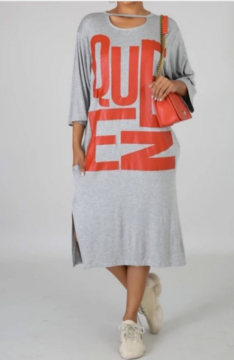 Queen Tshirt Dress
