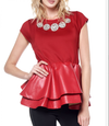Red Hot Delicious Peplum Top