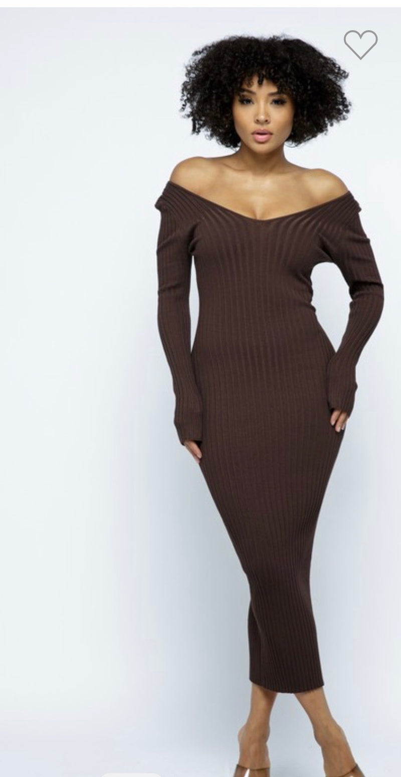 Chocolate City Midi Dress