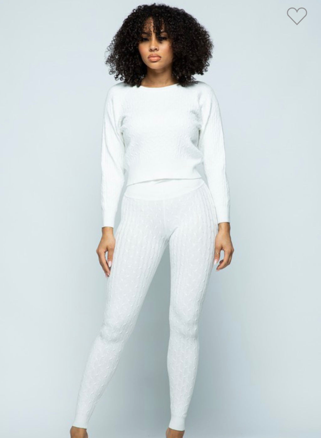 iRelaxx Cable Knit Loungewear