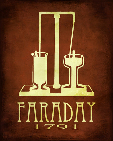 Faraday Art Print - Chemistry & Physics