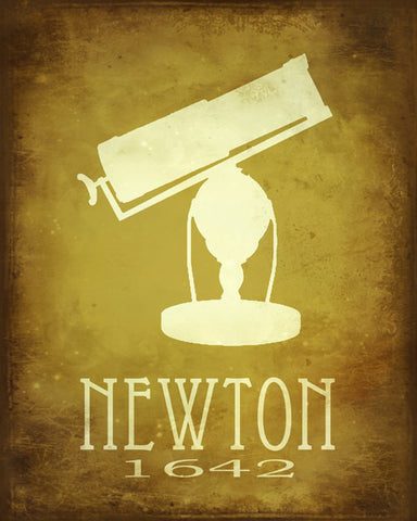 Isaac Newton Art Print - Astronomy, Physics & Mathematics