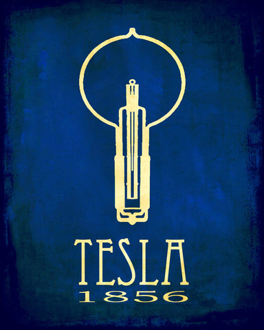 Tesla Rock Star Scientist Art Print - Inventor