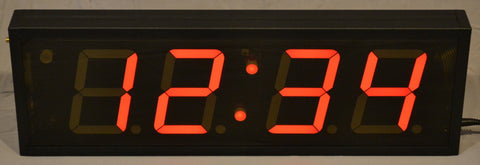 Magnum Clock 4-inch LED 4-Digit Clock + Timer