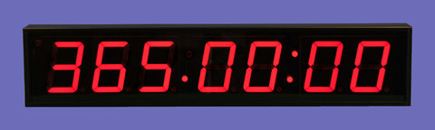 Large 4-inch LED 7-Digit Clock + Timer