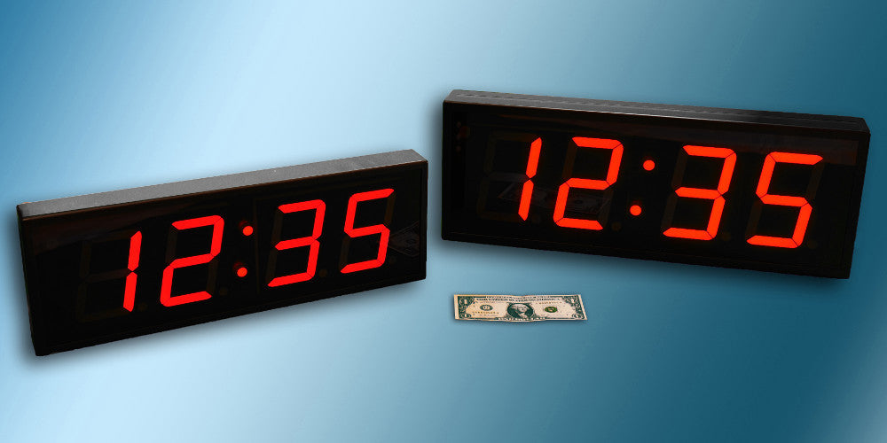 Large Digital LED Clocks & Timers