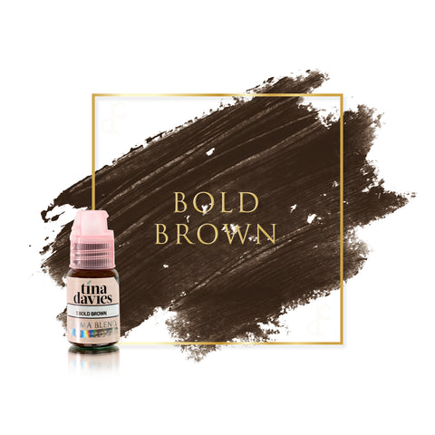 Permablend Tina Davies Bold Brown permanent makeup pigments for brows, great pigments for microblading