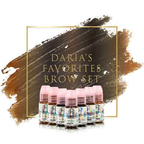 Daria Chuprys favorite permanent makeup pigments for brows, great pigments for microblading