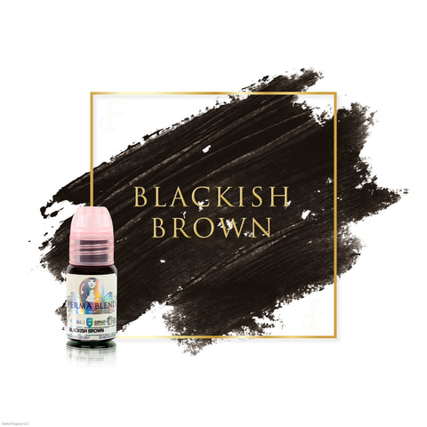 Perma Blend Blackish Brown permanent makeup pigments for brows, great pigments for microblading