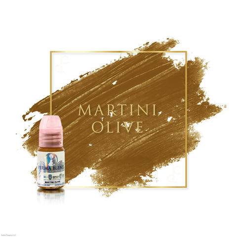 Perma Blend Martini Olive permanent makeup pigments for brows, great pigments for microblading