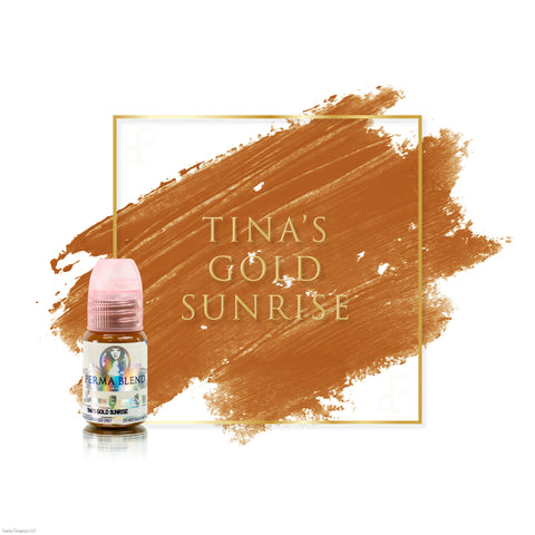 Permablend Tina's Gold Sunrise permanent makeup pigments for brows, great pigments for microblading