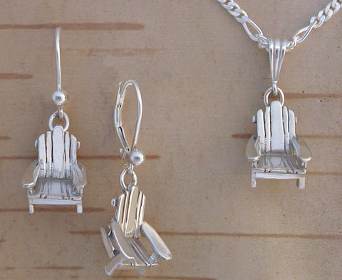 Adirondack Chair Jewelry - Sterling Silver