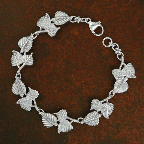 Quaking Aspen Leaf Bracelet - sterling silver