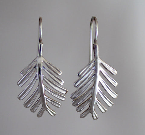 Balsam Needles Earrings - Sterling Silver