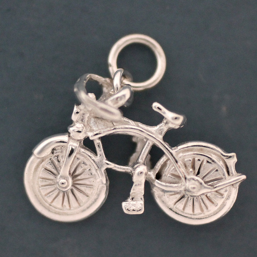 Bicycle Charm - sterling silver