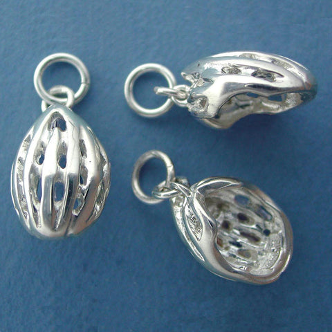 Bike Helmet Charm - sterling silver