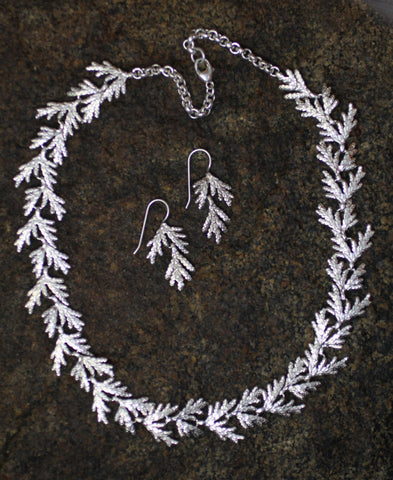 Sterling Silver Cedar Necklace