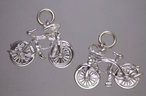 Cruiser Bike Charm - sterling silver