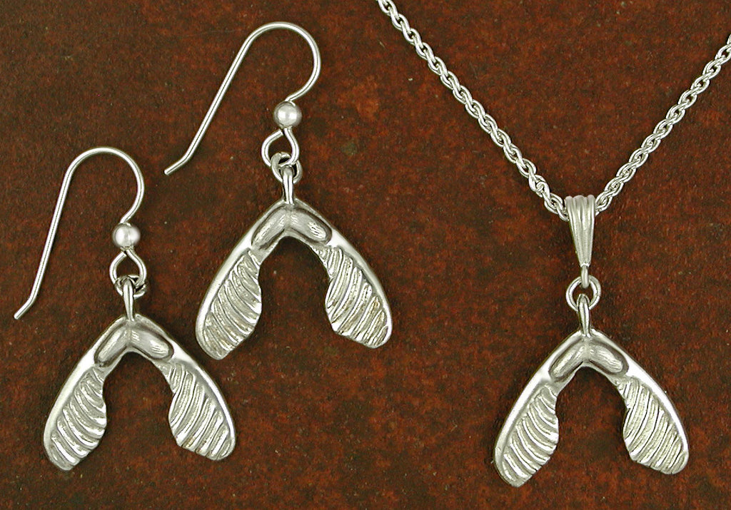 Sugar Maple Seed Jewelry - Sterling Silver