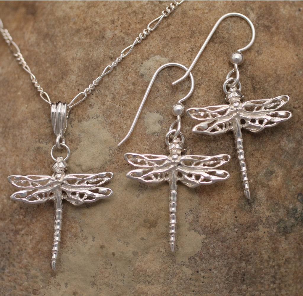 Sterling Silver Dragonfly Charm Jewelry