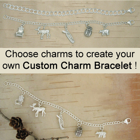 Adirondack Great Camp and Custom Charm Bracelets - Sterling Silver