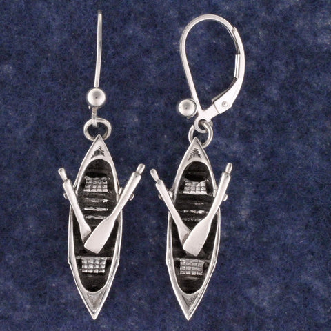 Adirondack Guideboat Earrings - sterling silver