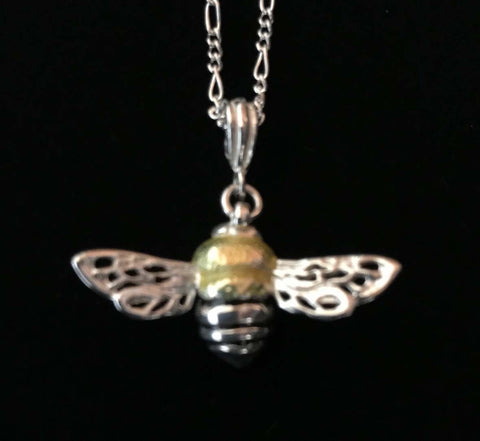 Enameled Honeybee Necklace