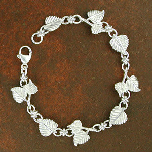 Aspen Leaves Bracelet - sterling silver