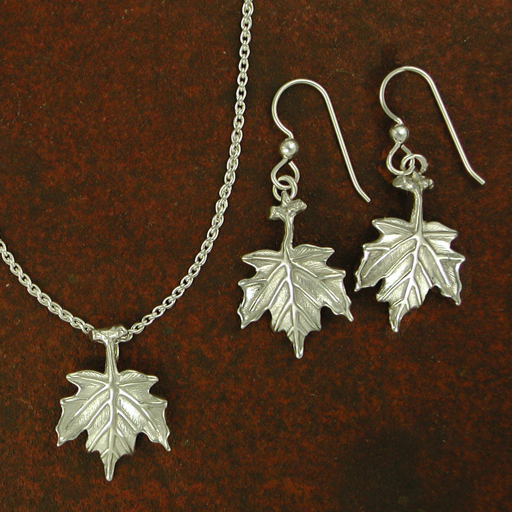 Sterling Silver Maple Leaf Jewelry Collection