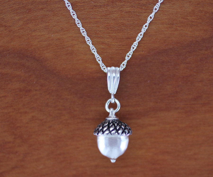 Medium Acorn Pendant / Necklace - sterling silver