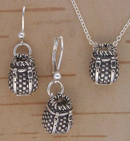 Sterling Silver Adk Pack Basket Jewelry