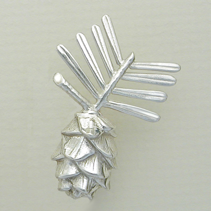 Sterling Silver Pinecone Pin Jewelry