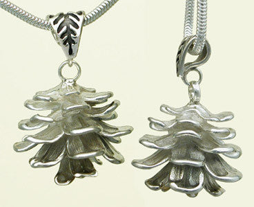 Sterling Silver Pine Cone Necklace Pendant