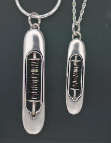 Lg Shuttle Necklaces - sterling silver