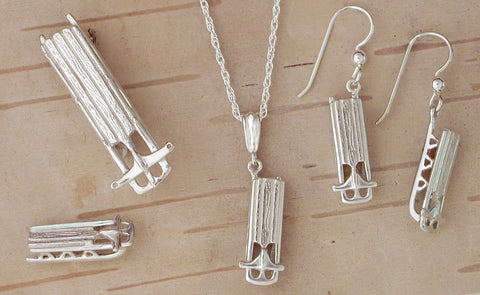 Flexible Flyer Sled Jewelry - Sterling Silver