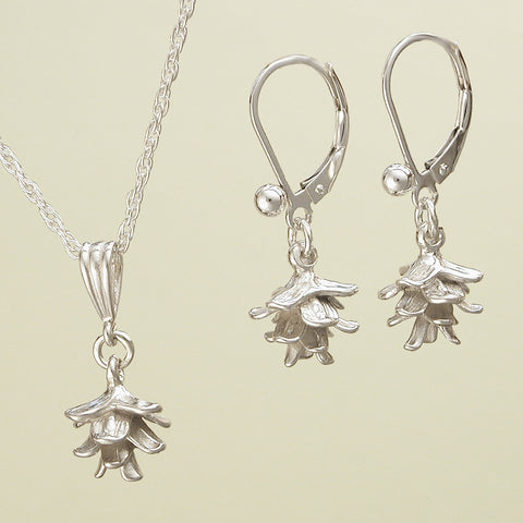 Spruce Pine Cone Jewelry - Sterling Silver