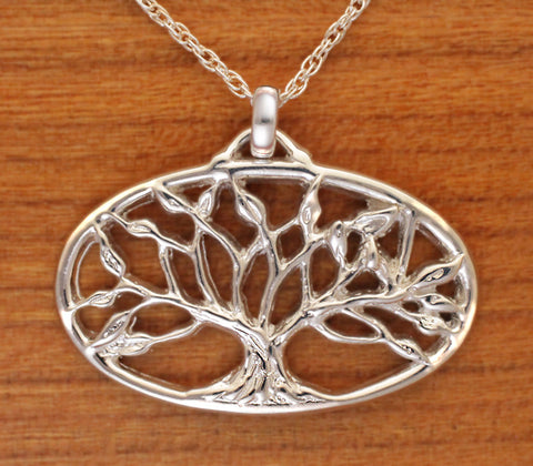 Lg Tree of Life Sterling Pendant
