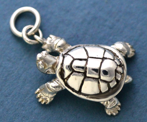 Sterling Silver Turtle Charm - legs move!
