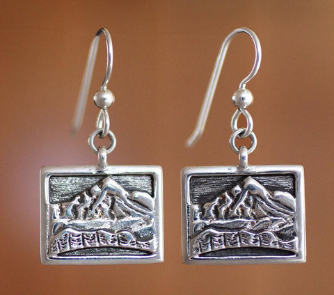 Whiteface Mountain Earrings - sterling silver