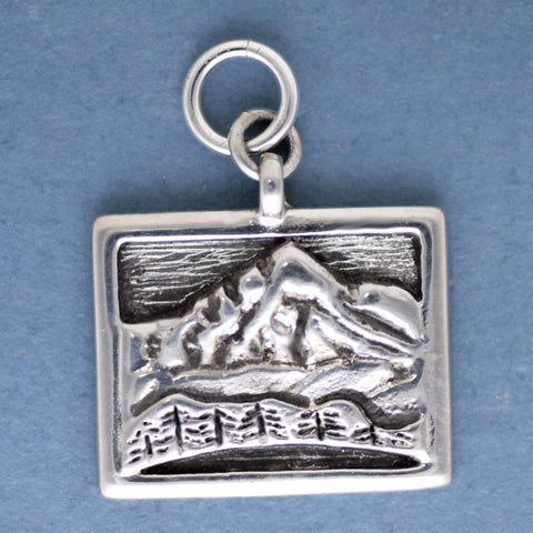 Whiteface Mtn Charm - sterling silver
