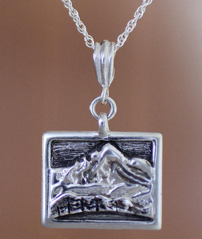Whiteface Mountain Necklace - sterling silver