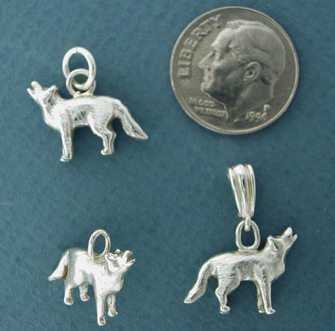 Silver Wolf Necklace Jewelry